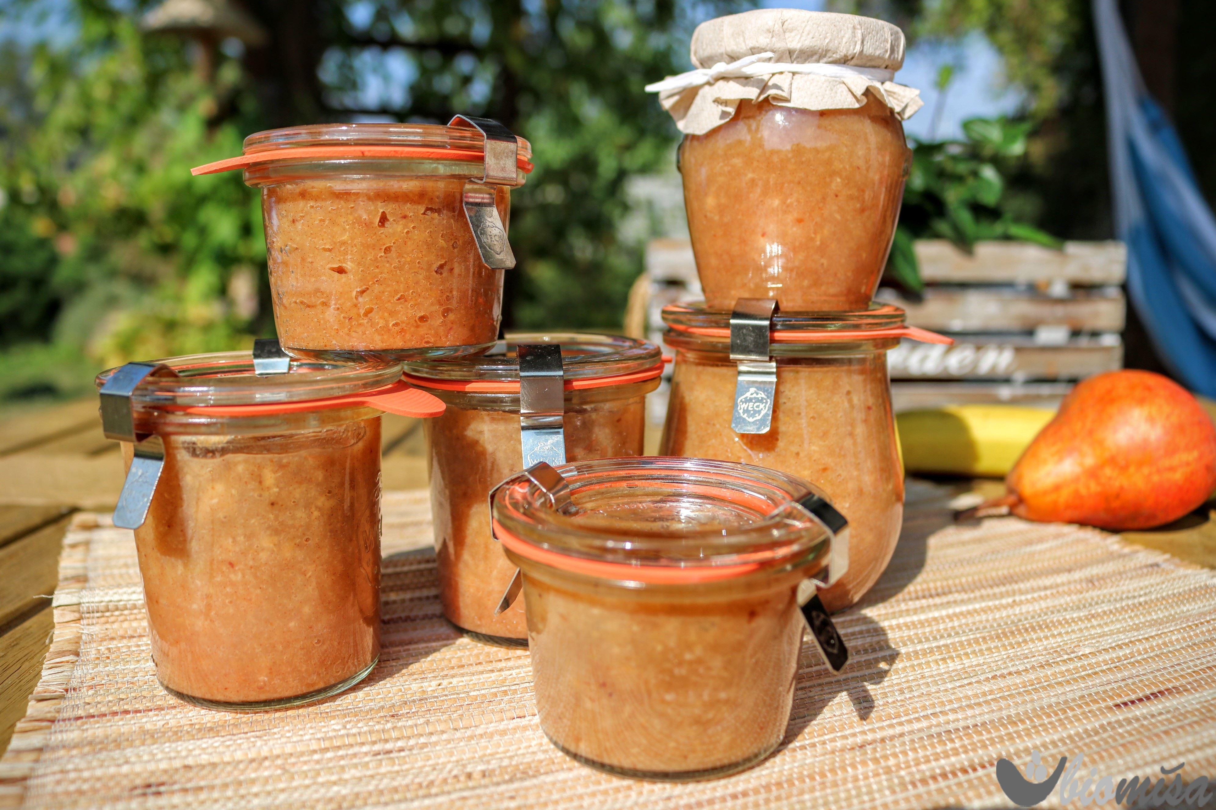 Hruškovo-banánová marmeláda
